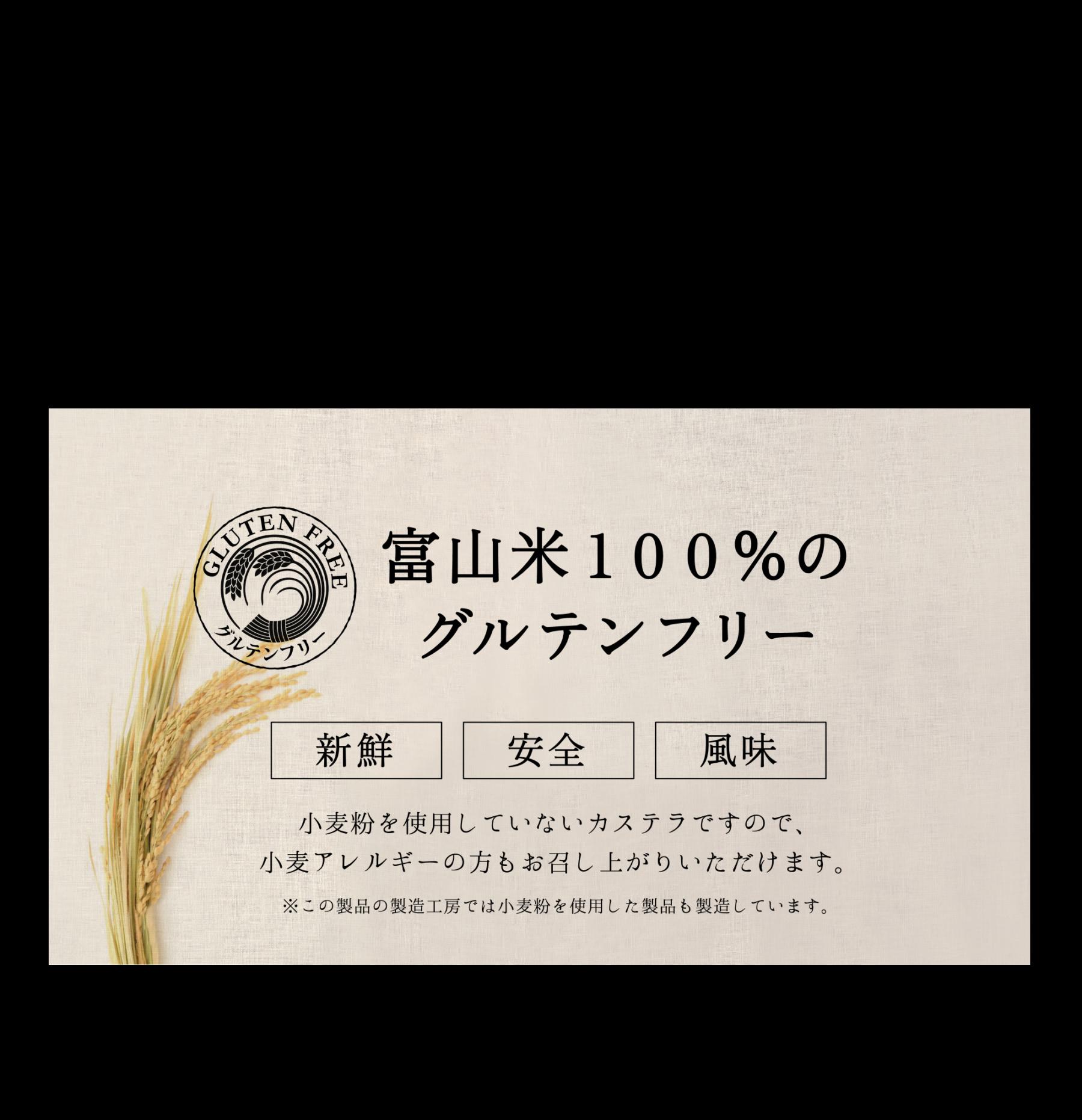 富山米100%のグルテンフリー